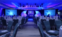 20. Gala dinner and blue stage at clayton hotel burlington road