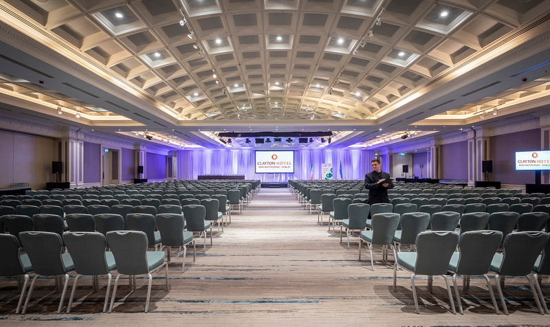 8. Conference set theatre style Clayton Hotel Burlington Road
