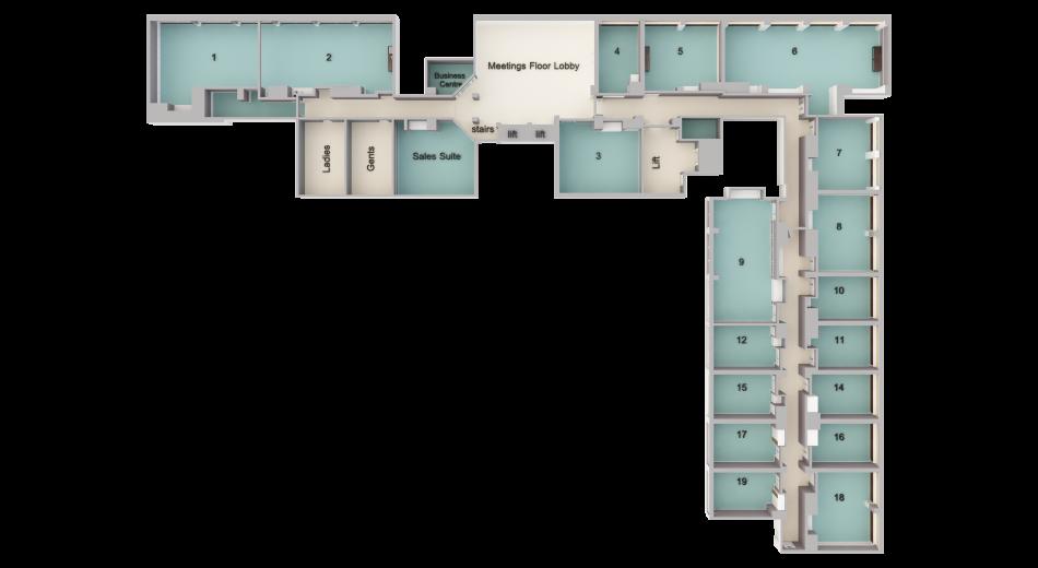 Clayton Conference Hotel Burlington Road Meetings Floor Plan