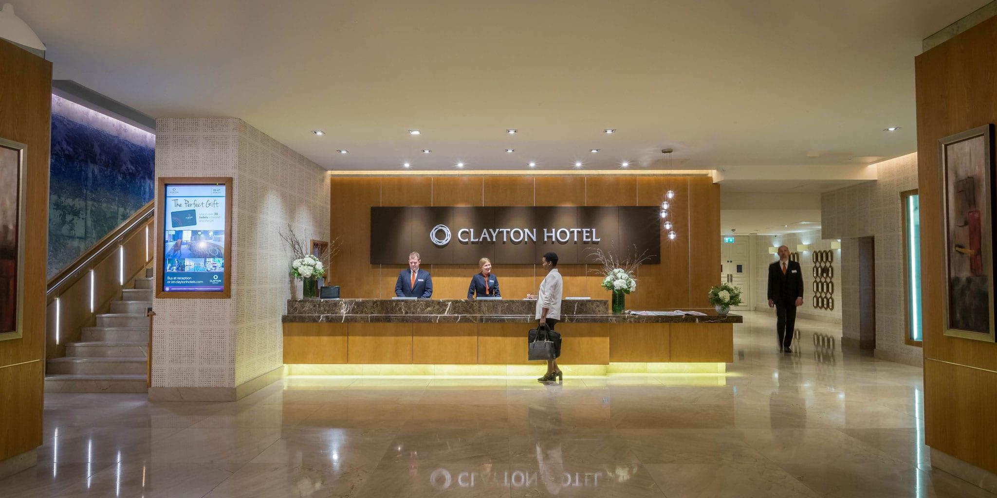reception clayton hotel burlington road