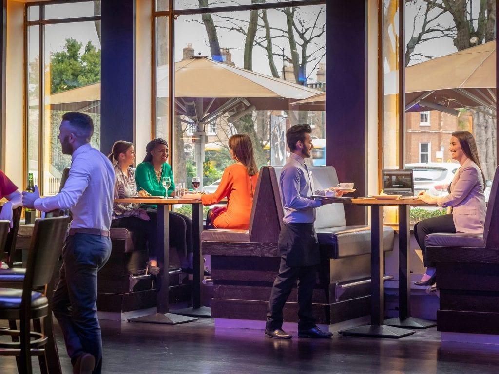 B Bar setting at CLayton Hotel Burlington Road