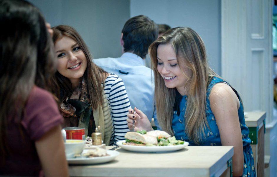 female friends having brunch